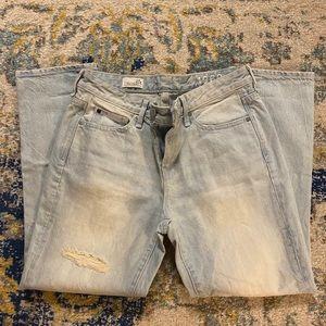 GAP Real Straight Light Denim Jeans (Petite)
